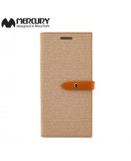 Mercury Milano design fabric ultra thin book case for Samsung G955 Galaxy S8 Plus / S8+ Orange