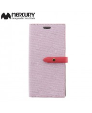 Mercury Milano design fabric ultra thin book case for Samsung G955 Galaxy S8 Plus / S8+ Pink