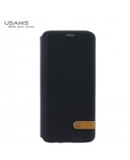 Usams DUKE ultra thin fashion magnetic smart book case without clip for Samsung G955 Galaxy S8 Plus / S8+ Black