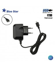 BlueStar Premium Universal 5V-10V 1A Micro USB Cable 1.2m Fast Travel Charger (Euro CE) Black