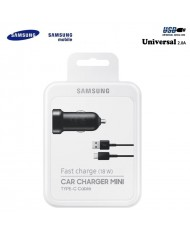 Samsung EP-LN930 2A 18W USB Car Quick Charger + Type C Data & Charger S8 / S8+ Cable Black