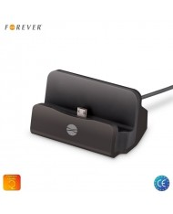 Forever DS-01 Universal Micro USB Dock Station Stand with Micro USB Plug for Smartphone and Tablet PC Black