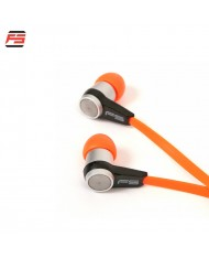 FreeStyle FH2110O Pro Noise Isolating Stereo In-Ear Headset with Microphone 3.5mm Flat Cable Orange