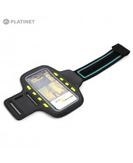 "Platinet POSLB SmartPhone 5"" Max (13.5x6.5cm) Armband Pouch Case for Sport - With Led Effects Black"