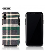 Remax RM-1648 Fabric series perfect protection Back cover case for Apple iPhone X / iPhone 10 Green