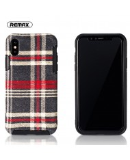 Remax RM-1648 Fabric series perfect protection Back cover case for Apple iPhone X / iPhone 10 Red