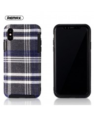 Remax RM-1648 Fabric series perfect protection Back cover case for Apple iPhone X / iPhone 10 Blue
