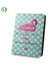 "GreenGo Universal 7-8"" Tablet PC Eco Leather Book Case Flamingo and dots"