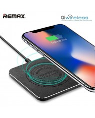Remax RP-W6 Universal Inductive QI Wireless Fast Charger DC 5V 9V 1.3A 10W Plate USB Power Type-C Cable Black