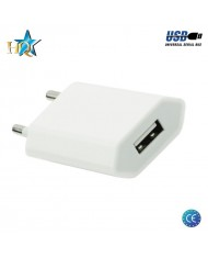 HQ Universal 1A 5V USB Plug Travel Charger for Smartphone / Mobile Device (Euro CE) White