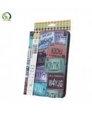 """GreenGo Universal 7-8"""" Tablet PC Eco Leather Book Case Number plate"""