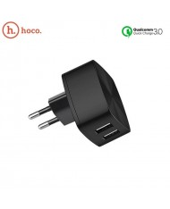 Hoco C26A Dual USB Socket 3.4A Qualcomm 3.0 Quick Travel Charger for Tablet PC & Smartphone Black