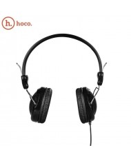 Hoco W5 Ergonomic Stereo On-Ear 40mm Headset for Mobile Devices 3.5mm 1.2m Cable with Mic / Remote Black