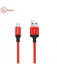 Hoco X14 Premium Durable Fabric Universal Micro USB to USB Data & Fast 2.4A Charger Cable 1m Red