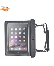 """TakeMe Universal Summer Vacuum safe Waterproof Case with strap for Tablet PC 9-10"""" (280x210mm max) Black"""