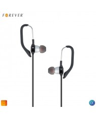 Forever Sport Active Sport Music 3.5mm In Ear Earhook Stereo Earphones with Mic and remote Black