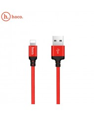 Hoco X14 Premium Durable Fabric Lightning to USB Data & Fast 2.4A Charger Cable 2m (MD819) Red