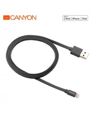 Canyon CNS-MFIC2DG MFi Certified Lightning to USB Data charging Cable iPhone 5 5C 5S 6 6S Plus (0,96m) Grey