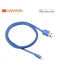 Canyon CNS-MFIC2BL MFi Certified Lightning to USB Data charging Cable iPhone 5 5C 5S 6 6S Plus (0,96m) Blue