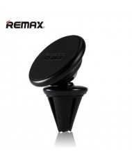 Remax RM-C28 Car Air Vent Sticky Tape Metal Body Magnetic Fix holder with 360 degree rotation for any smartphone Black