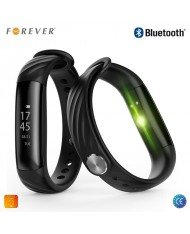 Forever SB-230 Smart Clock - Bracelet Bluetooth Sport Activity Tracker with adjustable silicone strap Black