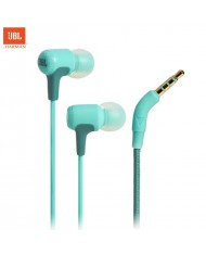 JBL E15 Signature Sound Universal 3.5mm In-Ear Earphones with Remote / microphone 1.2m Fabric Cable Mint