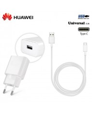 Huawei HW-050200E01 Universal USB Plug 2A Fast Charger + AP51 Type-C USB Cable 1.2m White (OEM)