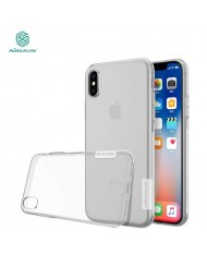 Nillkin Nature Ultra Thin 0.6mm Back cover case for Apple iPhone X / iPhone 10 / iPhone XS Transparent