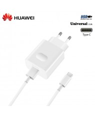 Huawei AP32 Universal Super Fast 18W USB Plug 9V/5V 2A Charger + Type-C Cable 1m White