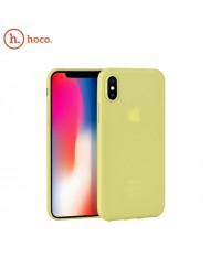 Hoco Suya series Ultra thin 0.3mm hard silicone back cover case for Apple iPhone X / iPhone XS Yellow