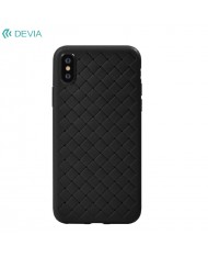 DEVIA Yison luxury hard silicone back cover case for Apple iPhone XS Max Black