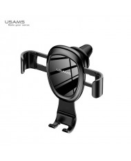 Usams US-ZJ042 Gravity Smart 3way Auto Fix Car Air Grill Holder for Smartphone 5-8cm wide Black