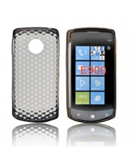 Forcell LG E900 (Swift 7) Silicone Back Case Lux Transparent/Black