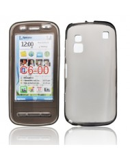 Forcell Nokia C6 Silicone Back Case Lux Transparent/Black