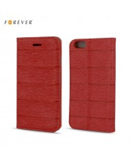 Forever Smart Magnetic Fix Cloth Line Book Case without clip LG H340N Leon Red