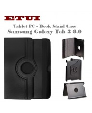 Etui Eco Leather Case with rotated stand Samsung Galaxy Tab 3 8.0 T310 T311 Black