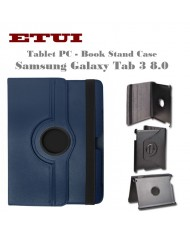 Etui Eco Leather Case with rotated stand Samsung Galaxy Tab 3 8.0 Blue