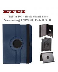 Etui Eco Leather Case with rotated stand Samsung P3200 Tab 3 7.0 T211 Blue