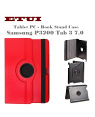 Etui Eco Leather Case with rotated stand Samsung P3200 Tab 3 7.0 Red