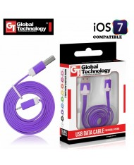 GT Flat ios7 USB Lightning 8pin Cable 1m for iPhone 5 5S iPad 4 / mini Violet