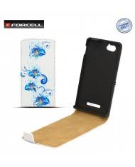 Forcell Slim Flip Pattern Sony ST26i Xperia J vertical case with picture Design 1