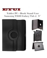 """Etui Eco Leather Case with rotated stand Samsung T330 Galaxy Tab 4 8.0"""" Black"""