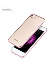 Usams Kim IP7J03 Ultra Thin Silicone Back Case for Apple iPhone 7 (4.7 inch) Transparent with Rose Gold frame