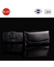 Telone Viva Universal Size (11.5x5cm) - iPhone 5 5S Eco Leather Belt Case Black
