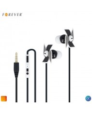 Forever CM-130 X-Bass Music Stereo 3.5mm In-Ear Flat Cable Headset with mic/remote Black