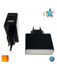 HQ Universal Tablet PC / Phone USB 2.1A/1A Premium Quality Travel Charger Black