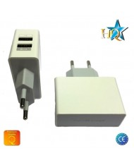 HQ Universal Tablet PC / Phone USB 2.1A/1A Premium Quality Travel Charger White (EU Blister)