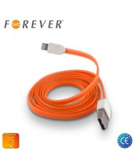 Forever Flat Silicone USB to Lightning Cable iPhone 5 5S 6 Orange (MD818 Analog)
