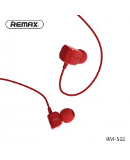 Remax RM-502 New Comfort Shape In-Ear 3.5mm Headset with 1.2m Cable Mic / Answer call Red