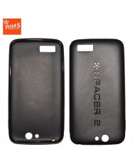 Just5 Spacer 2 Super Thin 1mm Silicone Back Cover Case Black